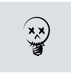 Skull linear head vector image