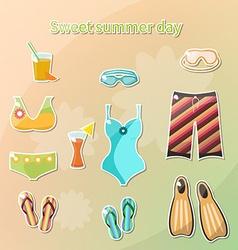 Summer swimming vector image