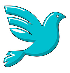 White peace pigeon icon cartoon style vector