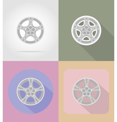 car equipment flat icons 15 vector image