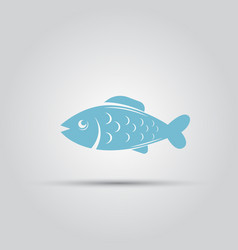 fish isolated icon vector image vector image