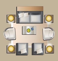 Living room furniture to view set 5 vector image