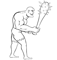 Man with mace vector image vector image