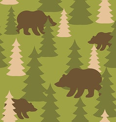 Military camouflage background bears in woods Wild vector image