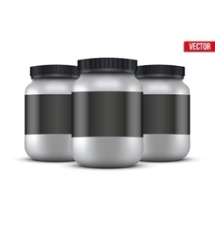 Mockup Background of Sport Nutrition Container vector image vector image