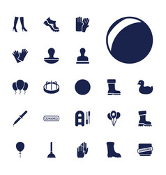 22 rubber icons vector