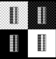 Abacus icon isolated on black white and vector