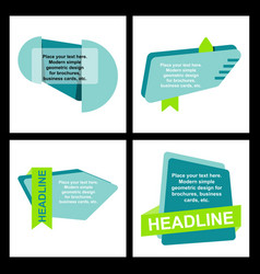 Abstract layout background headline vector