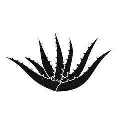 aloe plant icon simple style vector image