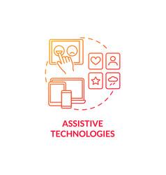 Assistive technologies concept icon vector
