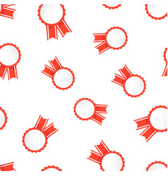award ribbon icon seamless pattern background vector image