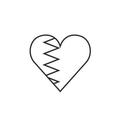 bahrain flag icon in a heart shape in black vector image