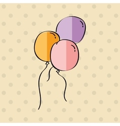Balloons air design vector