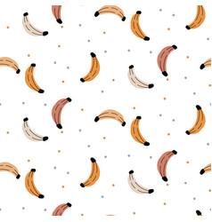 banana pattern background seamless tropic fruit vector image