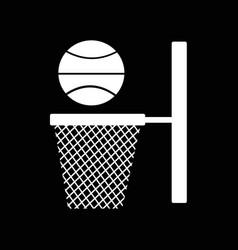 Basketball backboard net icon design vector