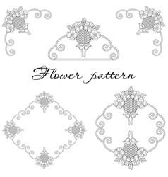 Beautiful floral ornament elements vector