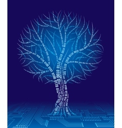 Binary tree vector image