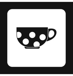 Black cup with white dots icon vector