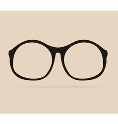 Black professor glasses shilouette vector