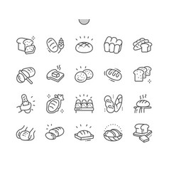 bread well-crafted pixel perfect thin line vector image