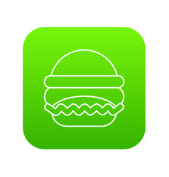 burger icon green vector image