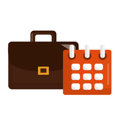 Calendar reminder with portfolio vector