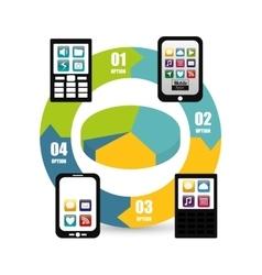 Cellphone mobile apps design vector