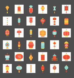 chinese new year lantern in various style vector image
