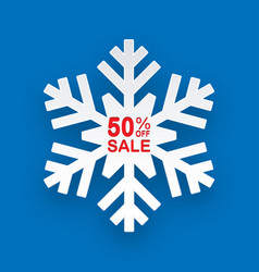 Christmas discount winter on sales for stores vector