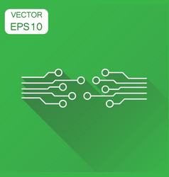 Circuit board icon business concept technology vector