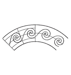 circular evolute spiral is a wave pattern that vector image vector image