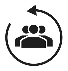 client care icon simple style vector image