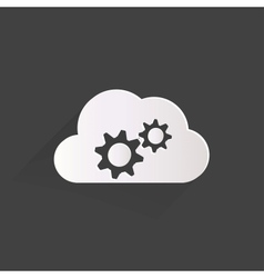 Cloud application settings web icon vector image