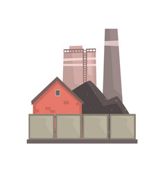 coal burning power plant industrial manufactury vector image