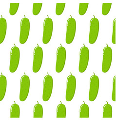 cucumber seamless pattern endless background vector image