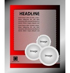 Design of the flyer gray and red Poster vector