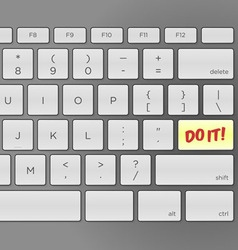 Do It Keyboard vector image