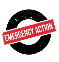 Emergency Action rubber stamp vector