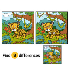 Find differences jaguar vector