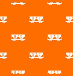 Freight railroad car pattern seamless vector