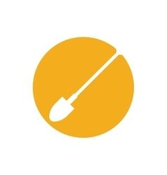 garden shovel isolated icon vector image