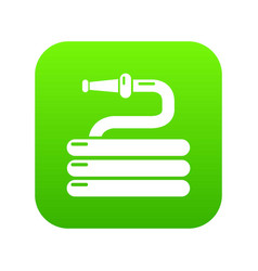 garden watering hose icon green vector image