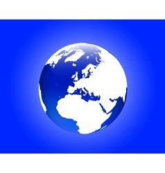 Globe europe vector