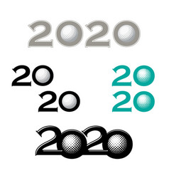 golf symbol new 2020 year vector image