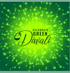 green diwali firework celebration concept vector image