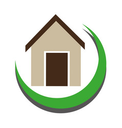 Half arch with simple house icon design vector