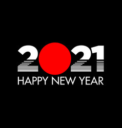 Happy new year 2021 tokyo style vector