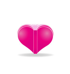 heart shape book icon vector image