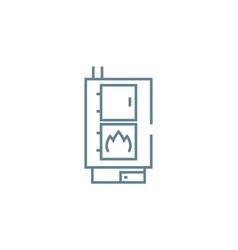 Heating boiler linear icon concept heating boiler vector