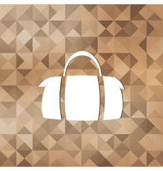 Hipster modern bag iconTriangle background vector